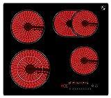 K&H® 4 Zonen Glaskeramikkochfeld 59cm Elektro Autark rahmenlos...